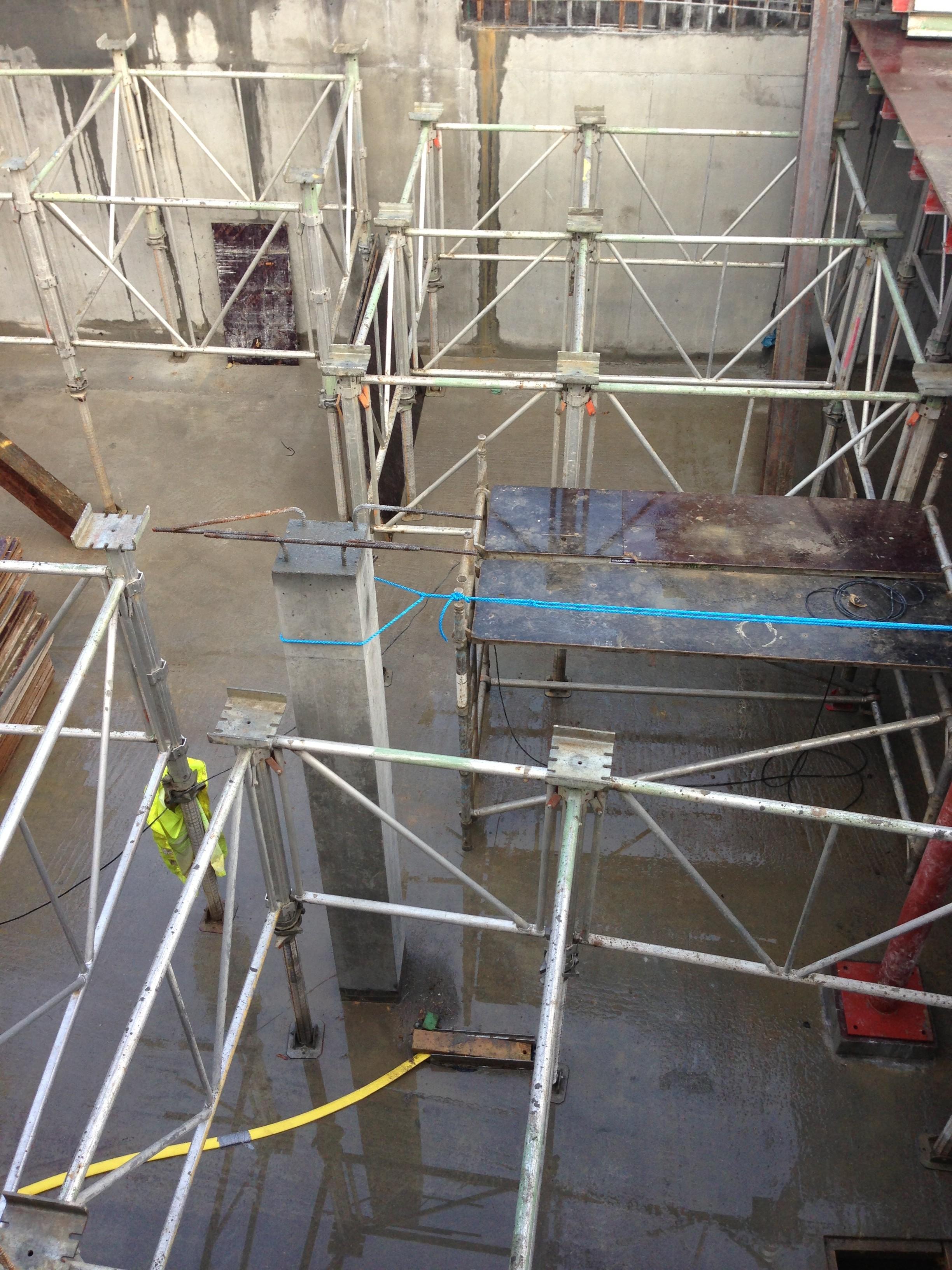 large basement daniel son groundwork formwork rc frames london